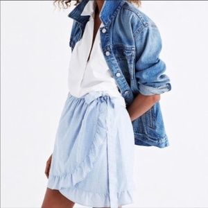 Madewell Ruffle Wrap Skirt